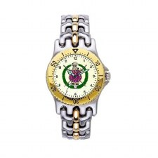 Omega Psi Phi Two Tone SS Watch