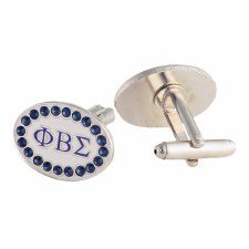Phi Beta Sigma Rhinestone Cuff Links