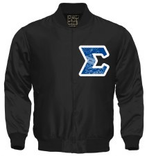 Phi Beta Sigma Crest Letter Satin Jacket