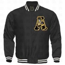 Alpha Phi Alpha Crest Letter Satin Stripe Jacket