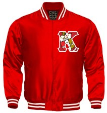 Kappa Alpha Psi Crest Letter Satin Stripe Jacket