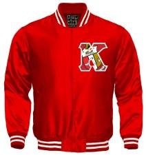 Kappa Alpha Psi Crest Letter Satin Stripe Jacket