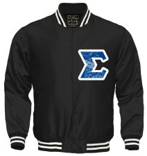 Phi Beta Sigma Crest Letter Satin Stripe Jacket
