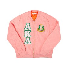 Alpha Kappa Alpha Pink Greek Bomber Jacket