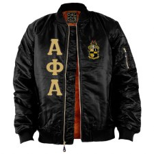 Alpha Phi Alpha Flight Letter Bomber Jacket