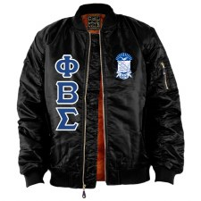 Phi Beta Sigma Flight Letter Bomber Jacket