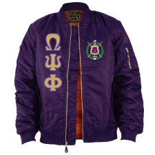 Omega Psi Phi Flight Letter Bomber Jacket