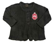 Delta Sigma Theta Crop Top Button Sweater