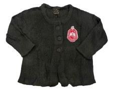 Devastating Diva Crop Top Button Sweater