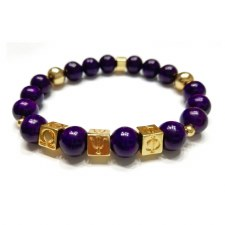 Omega Psi Phi Beaded Bracelet