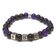 Phi Beta Sigma Mini Glass Bead Bracelet