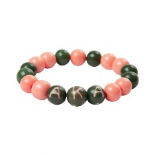 Alpha Kappa Alpha Wooden Beads Bracelet