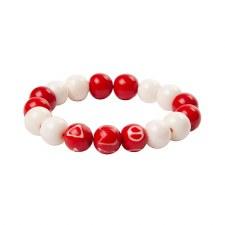 Delta Sigma Theta Wooden Beads Bracelet