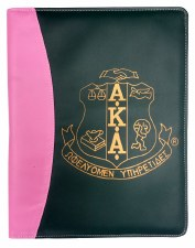 Alpha Kappa Alpha Two Tone Pad Holder