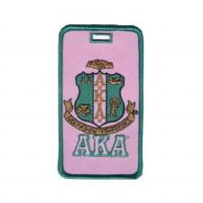 Alpha Kappa Alpha Crest Luggage Tag