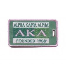 Alpha Kappa Alpha Founded Luggage Tag