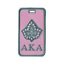 Alpha Kappa Alpha Ivy Mascot Luggage Tag