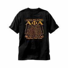 Alpha Phi Alpha Greek For Life Tee
