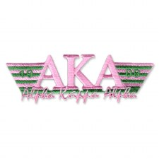 Alpha Kappa Alpha Greek Wings Patch