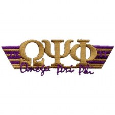 Omega Psi Phi Greek Wings Patch