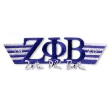 Zeta Phi Beta Greek Wings Patch