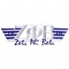 Zeta Phi Beta Greek Wings Patch