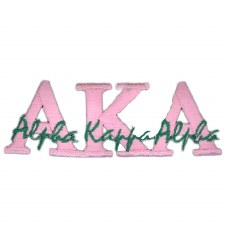 Alpha Kappa Alpha Signature Patch