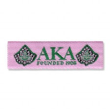 Alpha Kappa Alpha Woven Label Patch