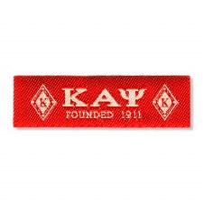 Kappa Alpha Psi Woven Label Patch