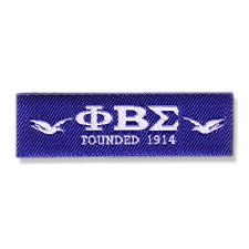 Phi Beta Sigma Woven Label Patch
