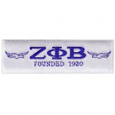 Zeta Phi Beta Woven Label Patch