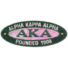 Alpha Kappa Alpha Oval Founded Patch