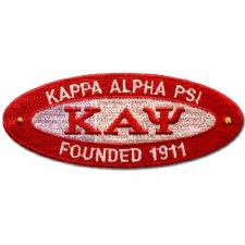 Kappa Alpha Psi Oval Founded Patch