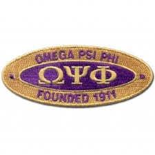 Omega Psi Phi Oval Founded Patch