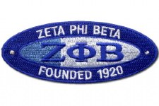 Zeta Phi Beta Oval Founded Patch