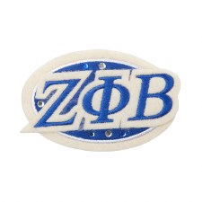 Zeta Phi Beta Oval Studded Patch