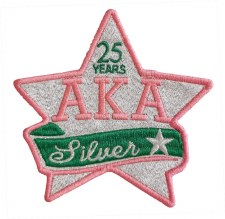 Alpha Kappa Alpha Silver Star Patch