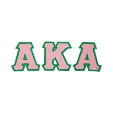 Alpha Kappa Alpha Applique Letter Set