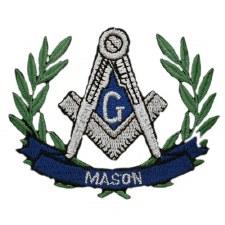 Mason Wreath Patch