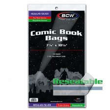 Bags, Comic Silver Thick Reseal (100)