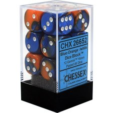 Dice Blue-Orange/White GeminiD6 12-Die Block