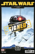 Star Wars #1 Signed Sprouse Empire Strikes Back Variant Sign