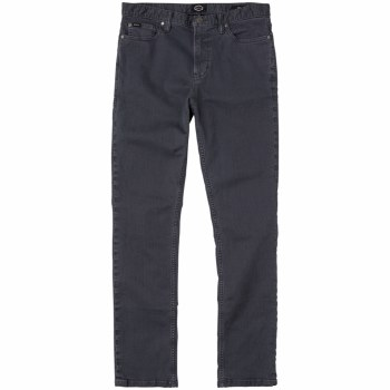 RVCA DAGGERS PIGMENT SLIM-STRAIGHT JEANS OIL GREY