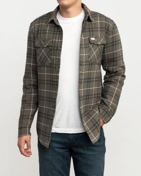RVCA ANDREW REYNOLDS PLAID FLA