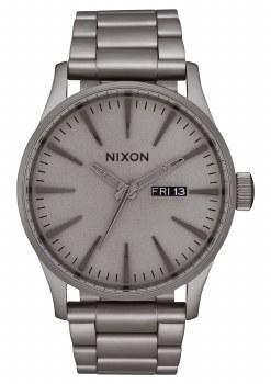 NIXON DARK STEEL SENTRY SS 42MM WATCH