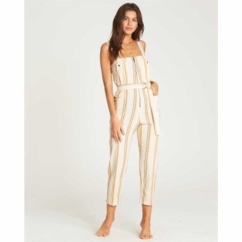 BILLABONG WHITE CAP LIGHT THE NIGHT JUMPSUIT S