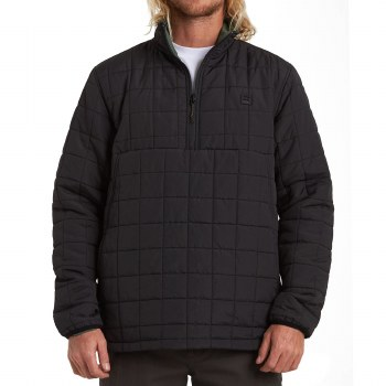 BILLABONG BLACK BOUNDARY REVERSIBLE PUFFER ANORAK JACKET