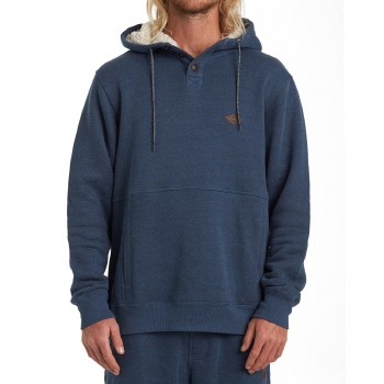 BILLABONG HEATHER NAVY HUDSON PULLOVER HOODIE