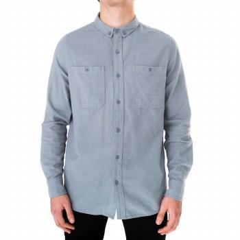 Banks Journal Somedays Long Sleeve Shirt Stone Blue