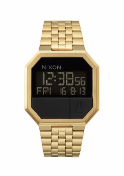 Nixon Re-Run, 38.5 mm All Goldtone
